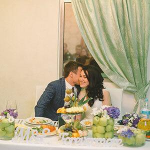 свадебный банкет в кафе