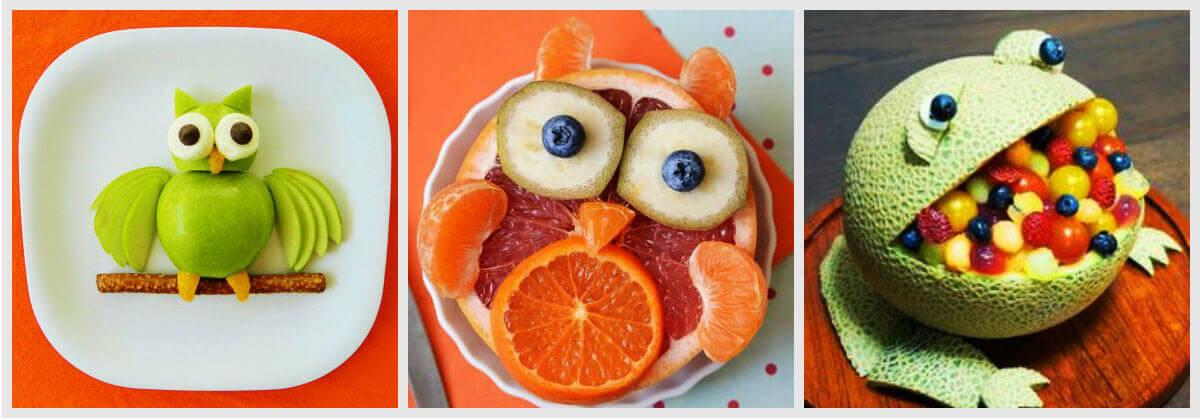 подача фруктов на детский праздник